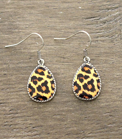 ER-0763LEO Leopard Drop Earrings