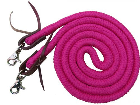 19504 Showman 8ft Braided Soft reins