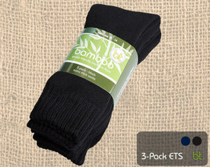 BTBAM3NAVY  BT Bamboo Socks 3 Pack Navy