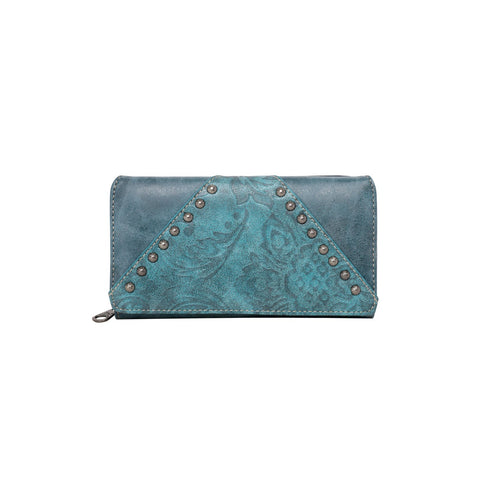 MW785-W010TQ Montana West Tooled Collection Purse Turquoise