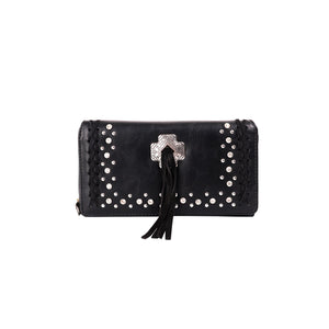 MW948-W010 Montana West Concho Wallet Black