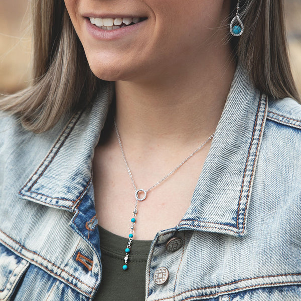 NC4403 Montana Silversmiths Lariat Drop Necklace
