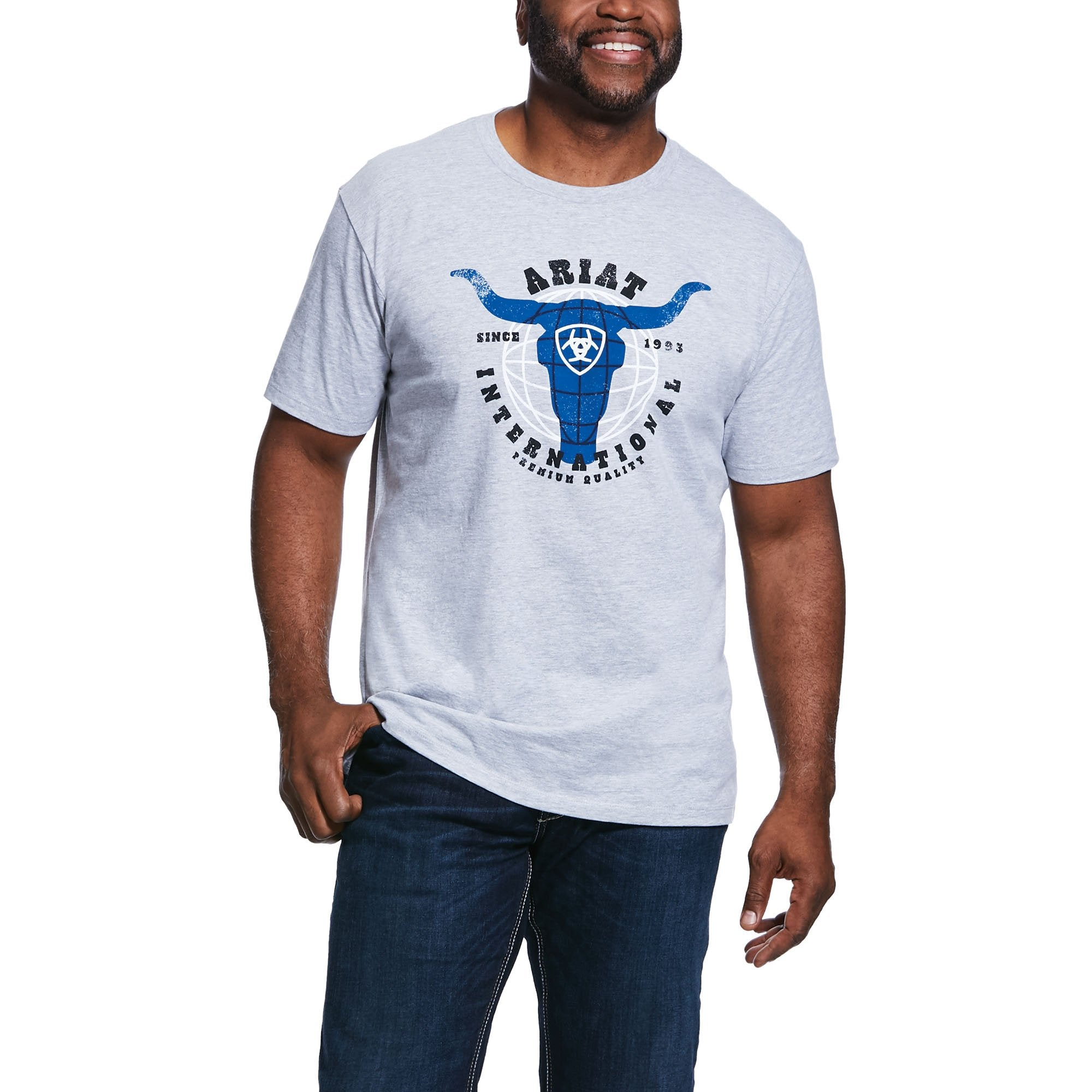 10032523 Ariat Mens Athletic Heather T Shirt