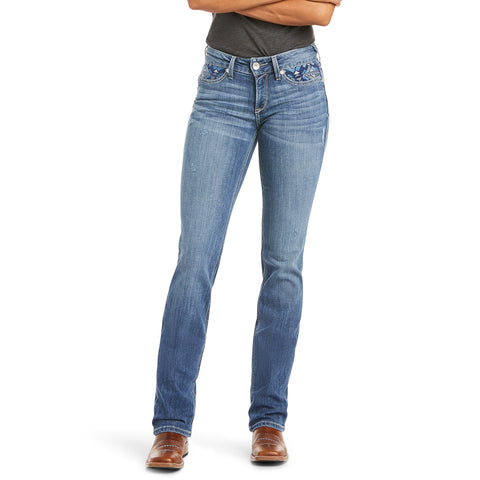 10032141 Ariat Women's Real Eleanor Straight Jean Long