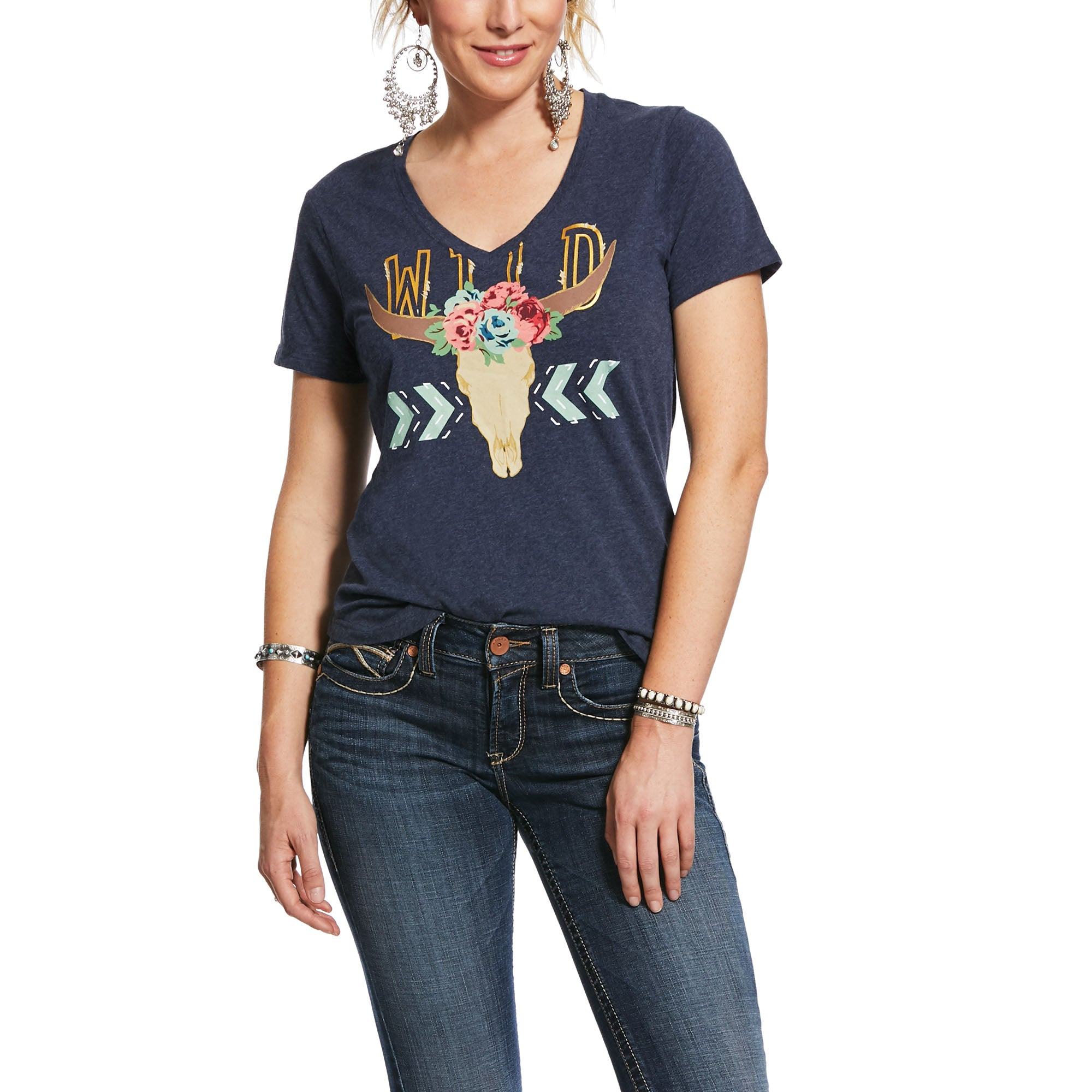 10031830 Ariat Women's Wild Steer Tee