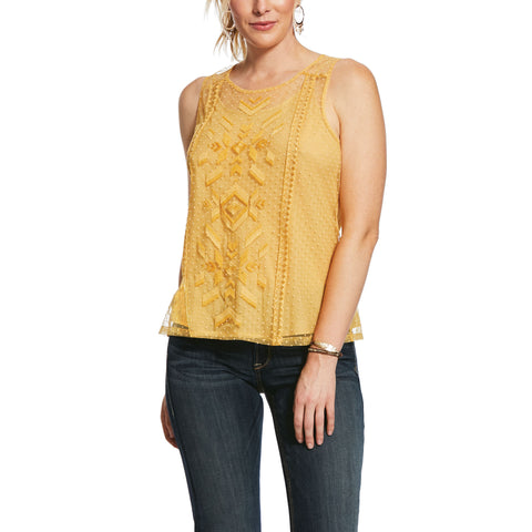 10032021 Ariat Mesh With Me Tank Gold Dust