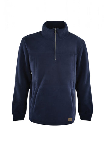 TCP1518005 Dux Bak Men's Pacific Bonded Fleece Zip Pullover Navy
