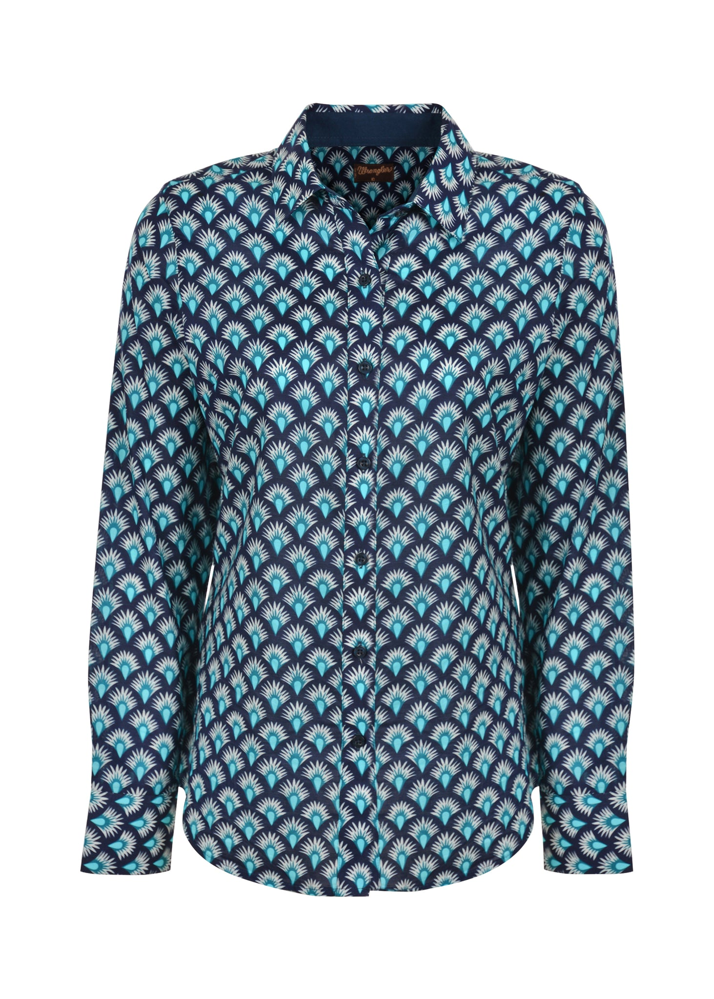 X0S2126558 Wrangler Women's Jade Print Long Sleeve Shirt