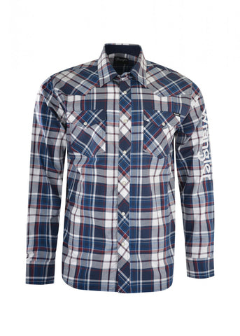 X1W1111601 Wrangler Men's Powell Check L/S Shirt