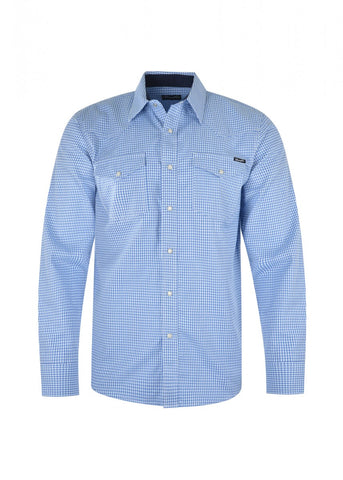X1W1111605 Wrangler Men's Taylor L/S Shirt Light Blue