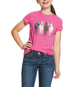 10030364 Ariat Girls 360 View T-Shirt Beet Pink Heather