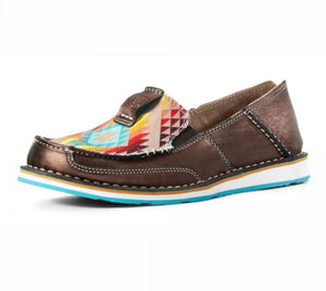 10029744  Ariat Womens Cruiser Copper Metallic/Rainbow Aztec