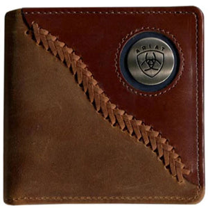 WLT2113A  Ariat Mens Bi Fold Wallet Brown