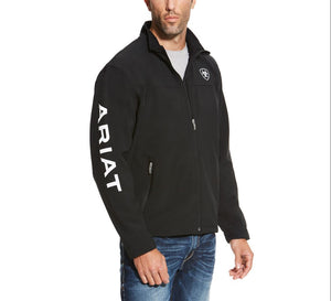 10019279 Ariat Mens Team Softshell Jacket Black
