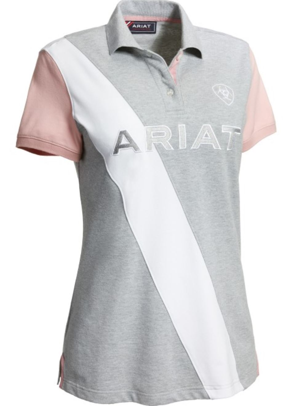 10030992 Ariat Women's Taryn Polo Heather Gray/Bridal Rose