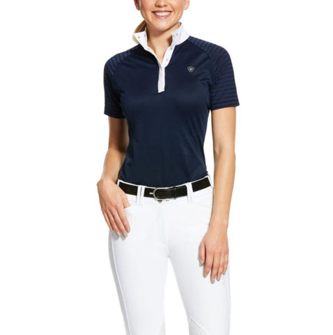 10031009 Ariat Women's Aptos Vent SS Show Shirt Navy
