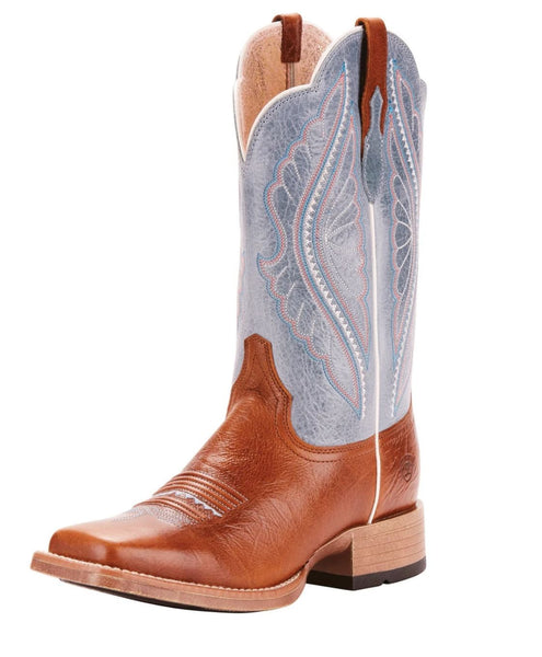 10025032 Ariat Womens Primetime Ginger snap/Baby Blue Eyes