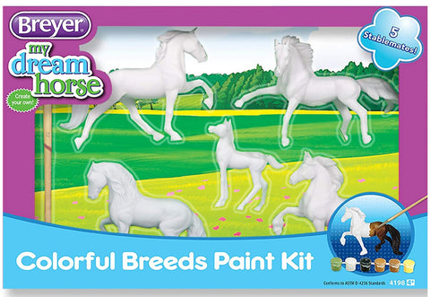 4198 Breyer Colourful breeds paint kit