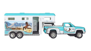 6046 Breyer Truck and Gooseneck Horse Trailer Turquoise