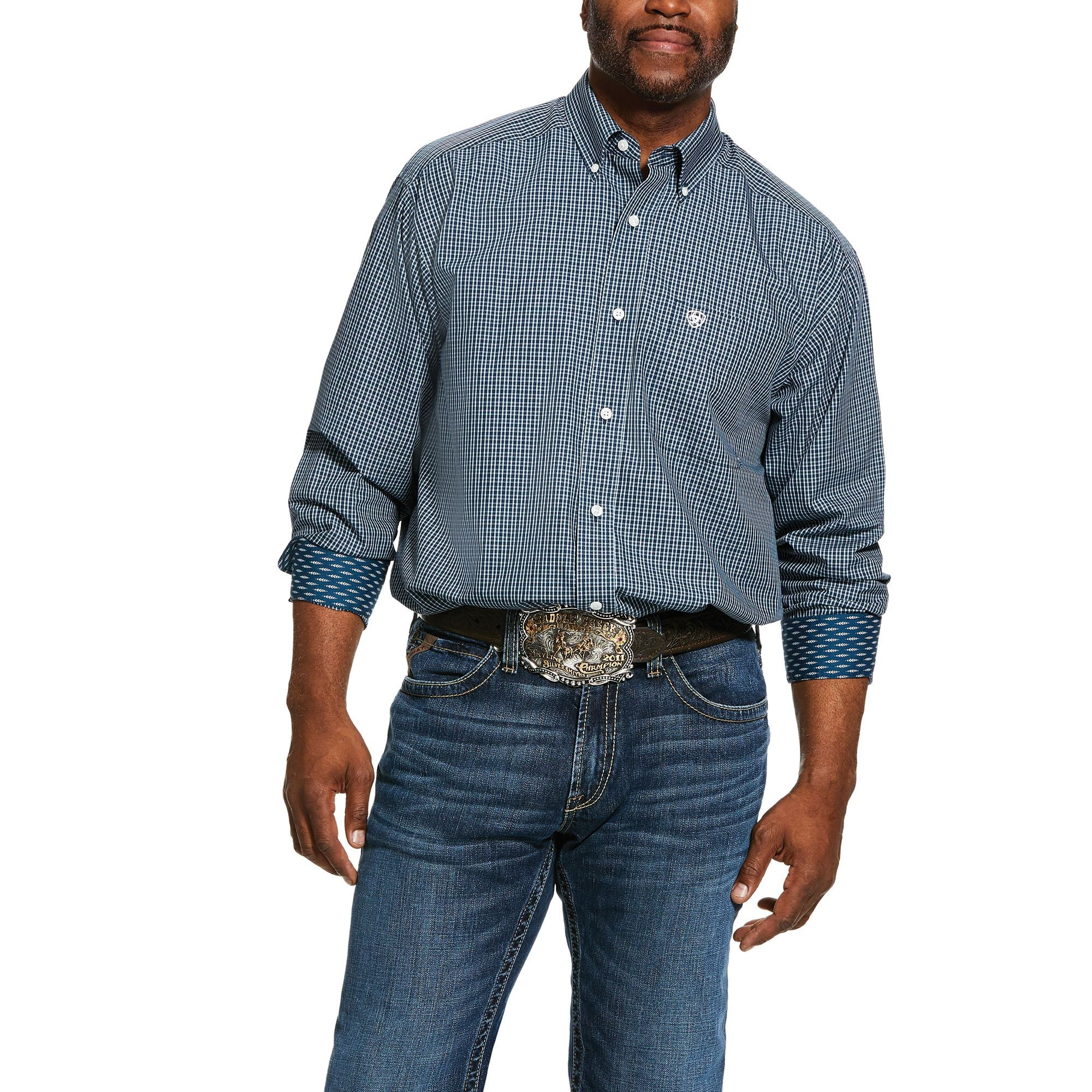 10030772 Ariat Men's Middleburg LS Shirt Wrinkle Free