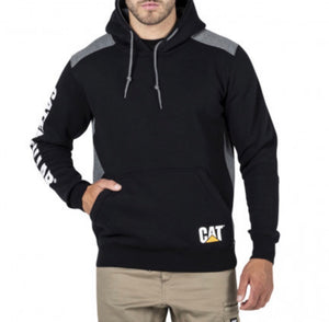 1910802B Cat Logo Panel Hoodie Black/Noir