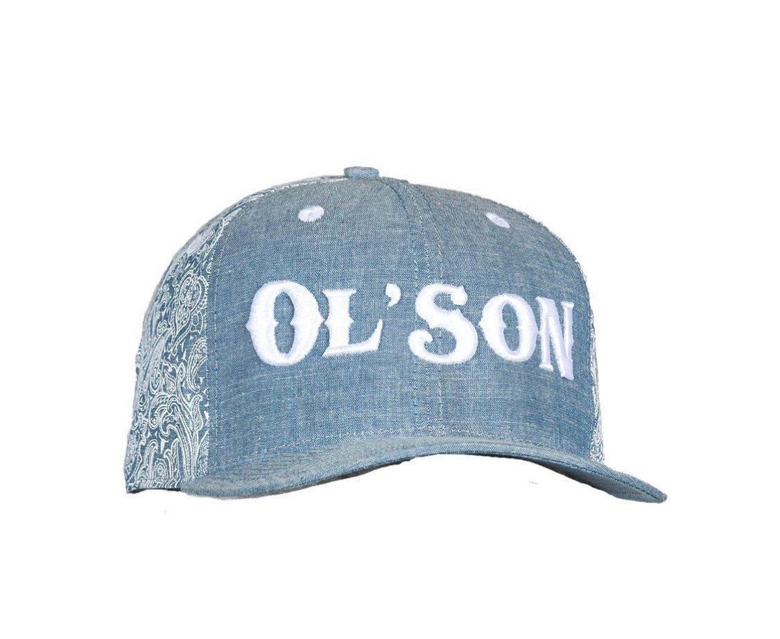 140577 Dale Brisby Ol'son Light Denim Flatbrim