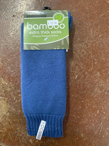 1BAMBLUE  BT Bamboo Extra Thick Socks Blue