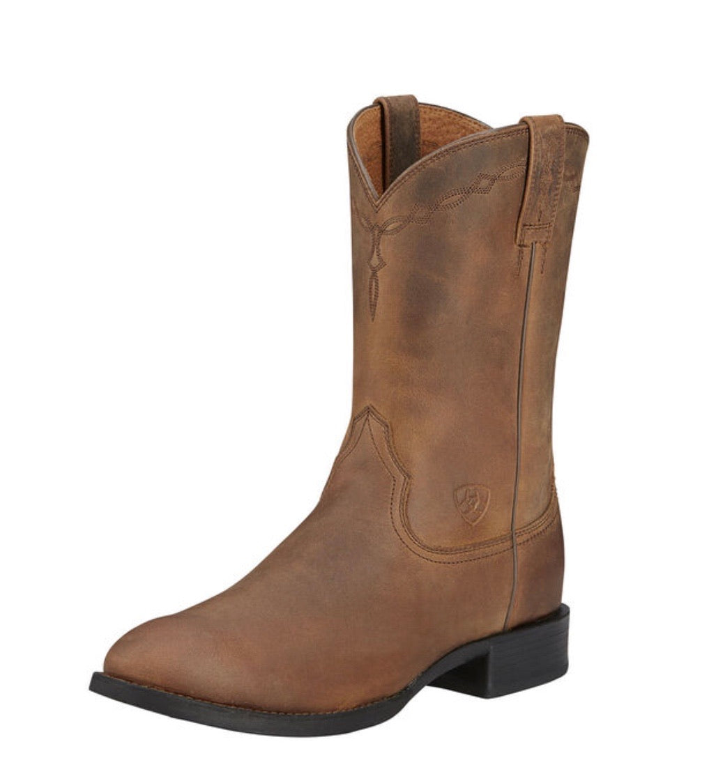 10002284 Ariat men's Heritage Roper Distressed Brown
