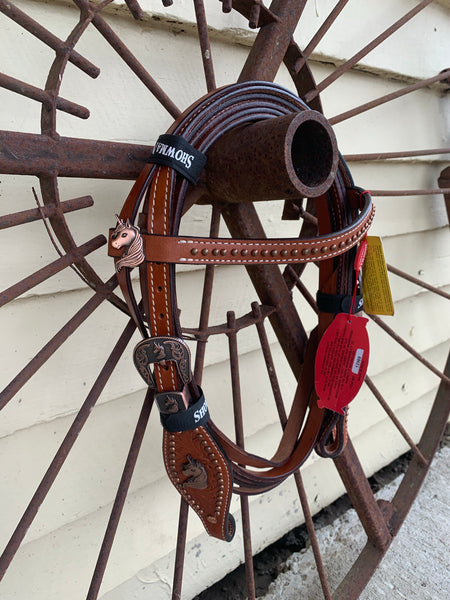 13969 Showman Western Bridle and Breastplate Unicorn Pony