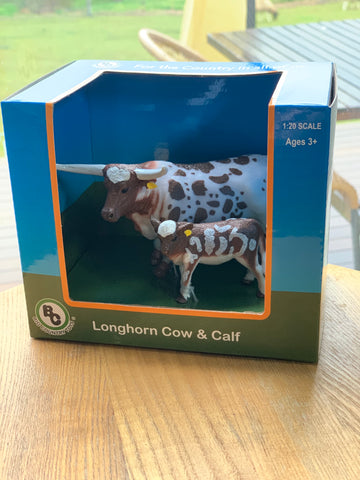 #405 BC Toys Longhorn Cow and Calf