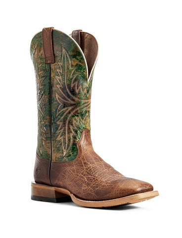 10029752 Ariat Men's Cowhand Tobacco Toffee/Moss Green