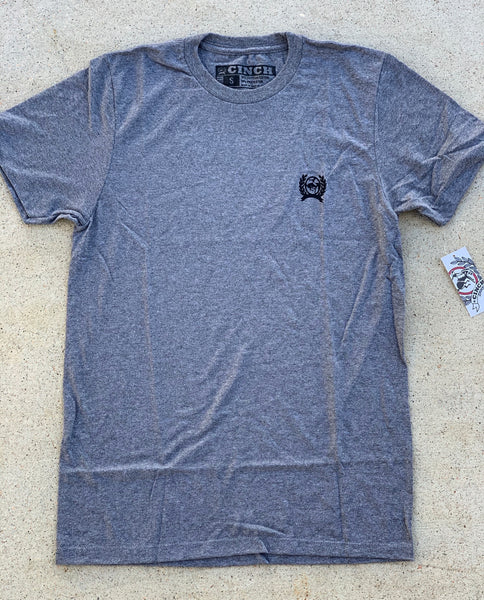 MTT1690370-GRY Cinch Mens Logo Tee Grey