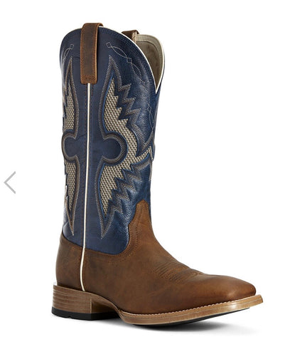 10027202 Ariat Men's Solardo Ventek Sorrel Crunch/Cowboy Blue