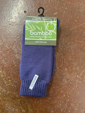 1BAMNAVY  BT Bamboo Extra Thick Socks Navy