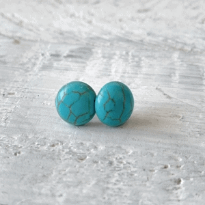 90Dibora Earrings Turquoise
