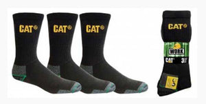 CAT-735B-300A Cat Bamboo Work Socks 3 Pack