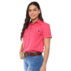 220210420-MEL Ringers Western Women's Jules Short Sleeve Work shirt