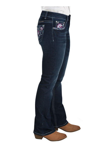 PCP2211380 Pure Western Women's Leah Boot Cut Jean 32'