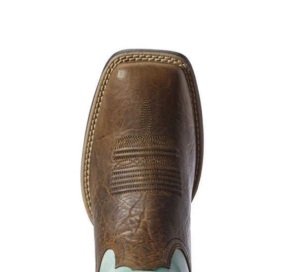 10031634 Ariat Womens Quickdraw Legacy Natural Crunch/Pool Blue
