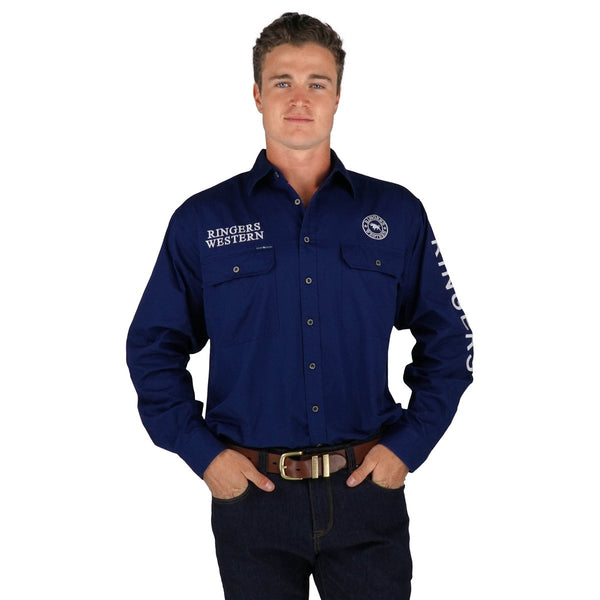 118110002-NV Ringers Western Men's Hawkeye Full Button Work Shirt