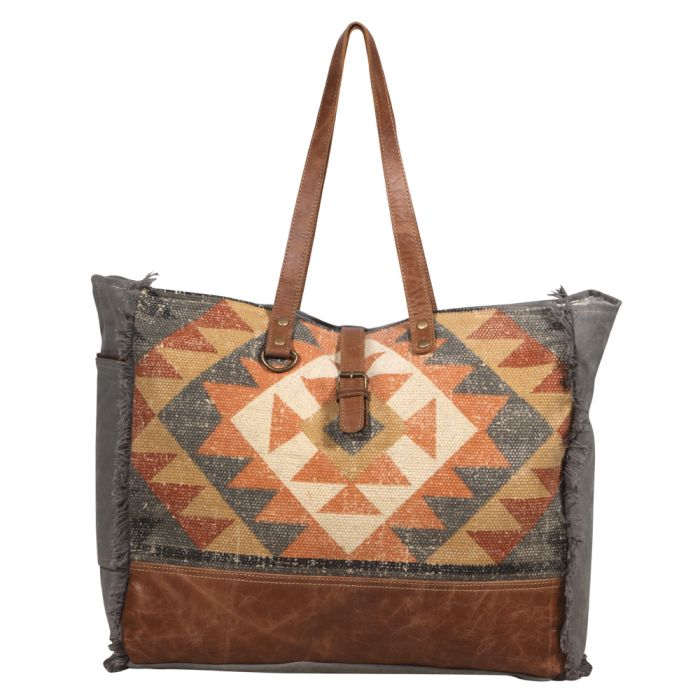 S-2048 Up Cycled Canvas and Rug Weekend Bag