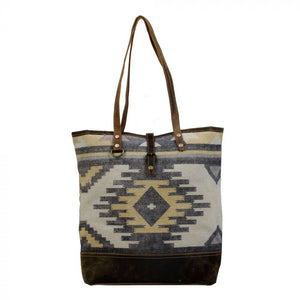 S-2818 Up Cycled Canvas and Rug Tote bag