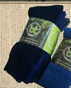 BTBAM3MIXED Bamboo Textiles 3 Pack Bamboo Work Socks Black/Navy/Grey