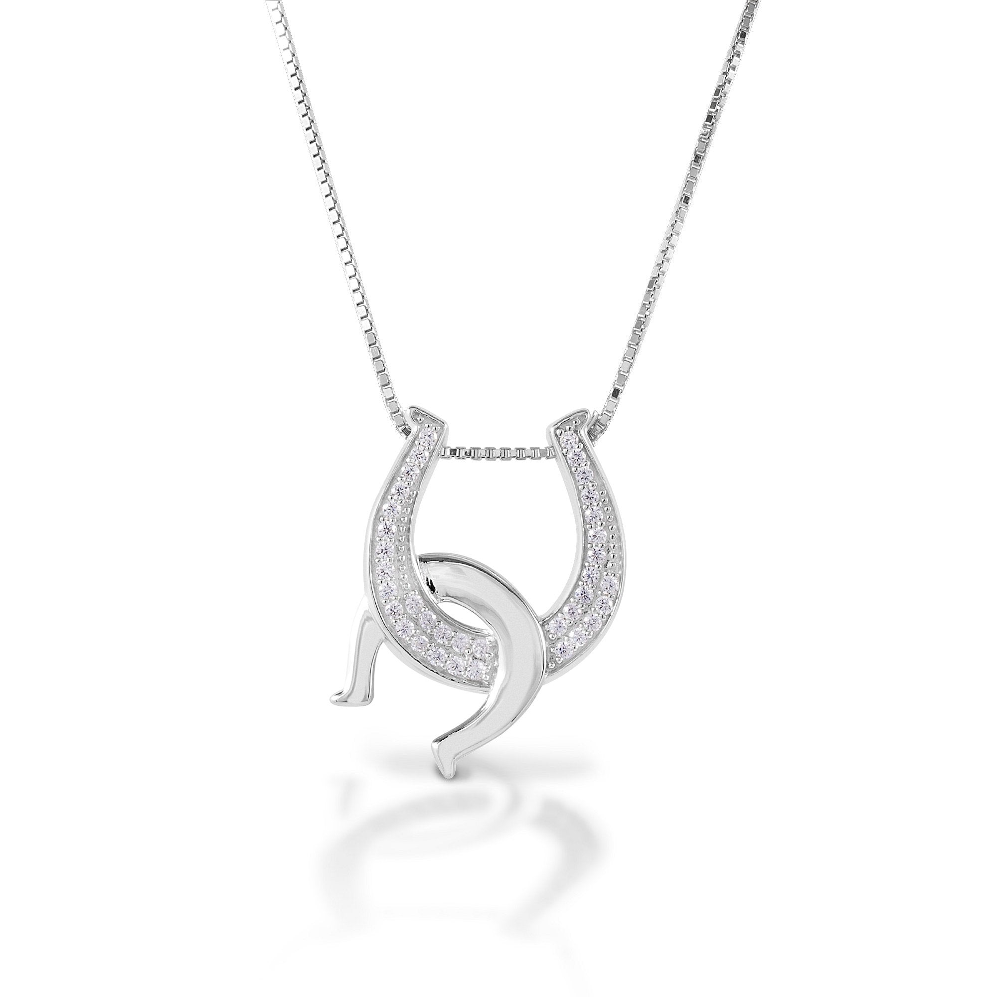 1406201 Kelly Herd Double Horseshoe Necklace Sterling Silver