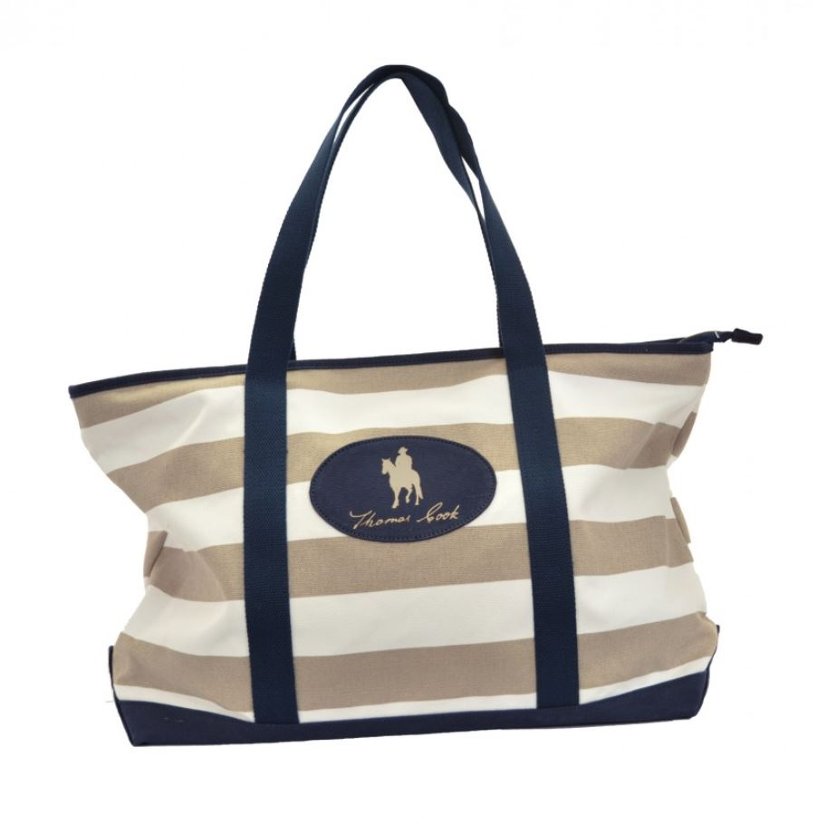 T0S2962TOT  Thomas Cook Moama Tote White/Beige