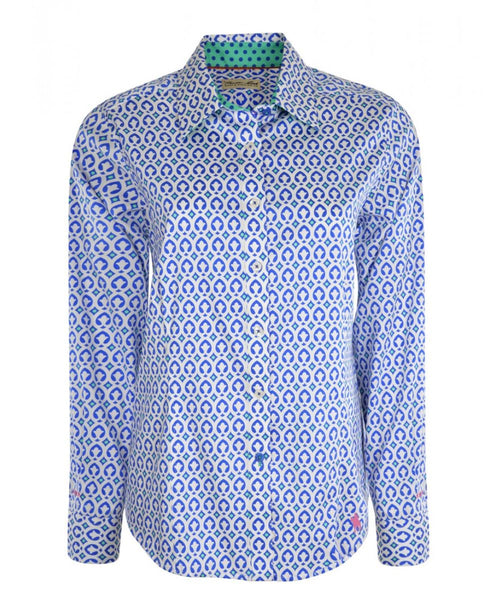 T0S2118044 Thomas Cook Women's Harington L/S Shirt Blue/White