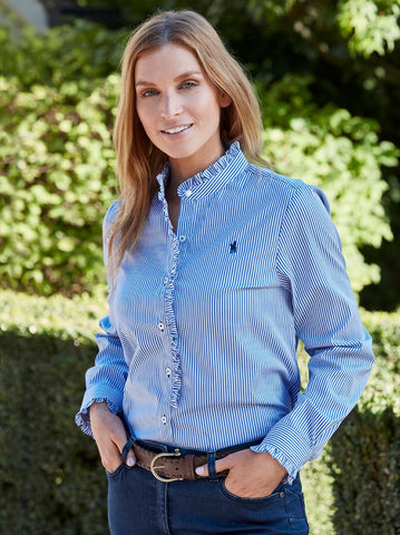 T0S2133048 Thomas Cook Women's Scone L/S Shirt Blue/White