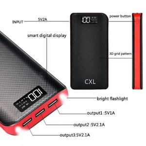 Power Bank Portable Charger 24000mAh High Capacity Dual Flashlights with LCD Indicator,