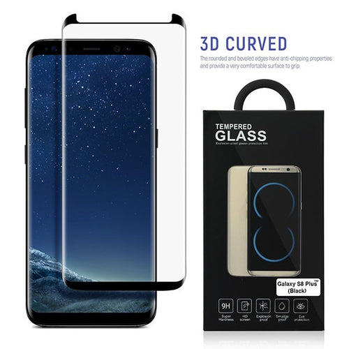 Samsung S8 and Plus Full Premium Tempered Glass Screen Protector Black