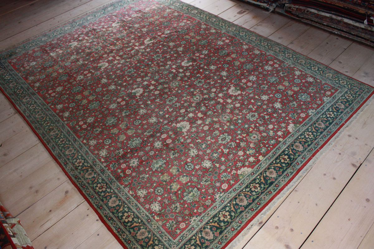 Antique Turkish Hereke Carpet 8x11 Ft Turkish Carpet Rug